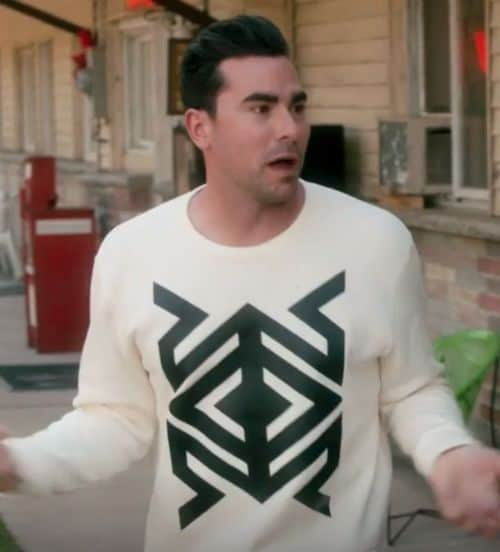 david rose geometric tribal design sweater