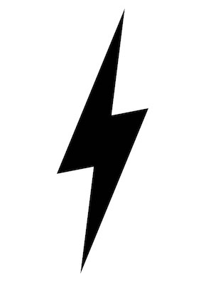 lightning bolt SVG