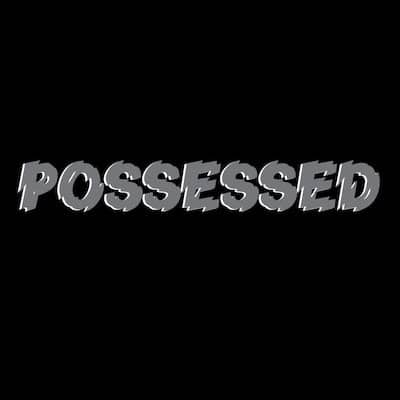Possessed hoodie distressed font SVG