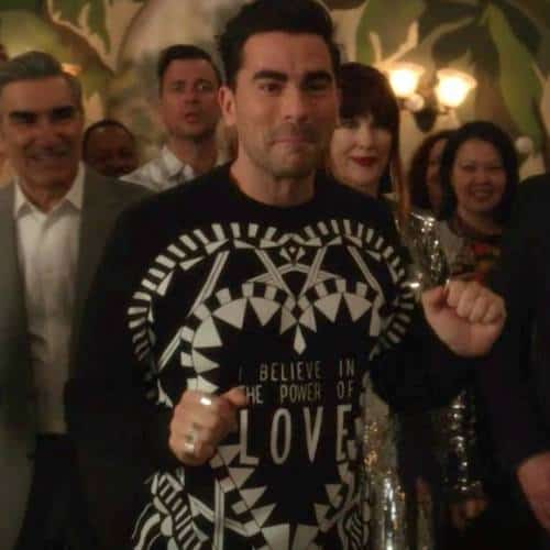 david rose givenchy I believe in the power of love sweater