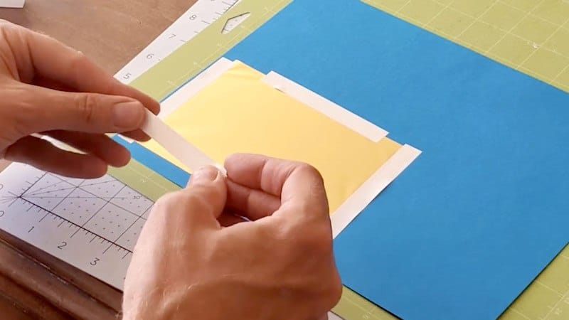 how to use tape on cricut transfer foil