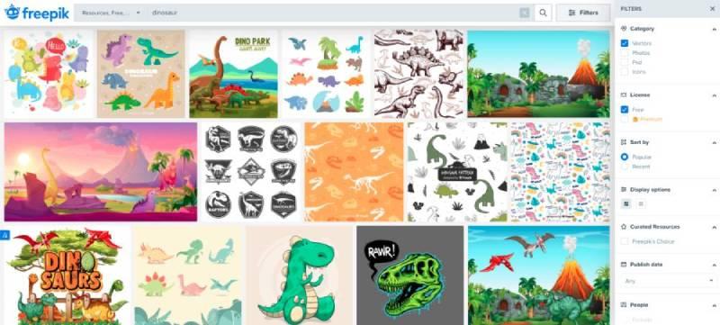 freepik.com vector search results
