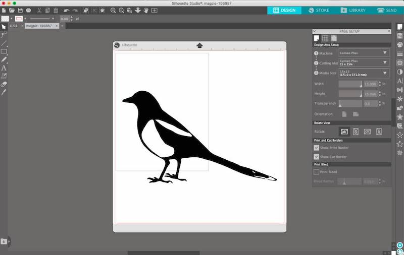 example of vector project in silhouette studio