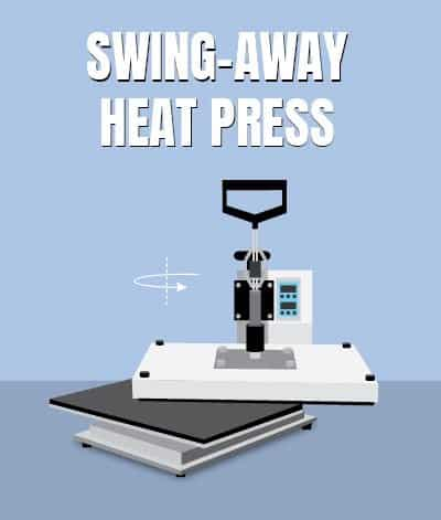 swing away style heat press machine diagram