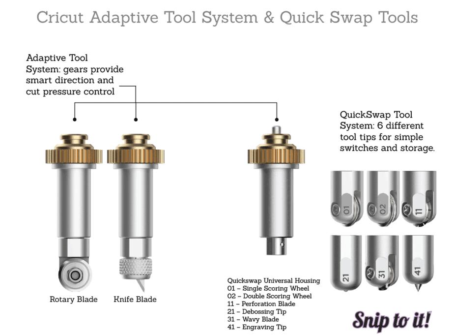 Cricut adaptive tools vs quickswap tool system