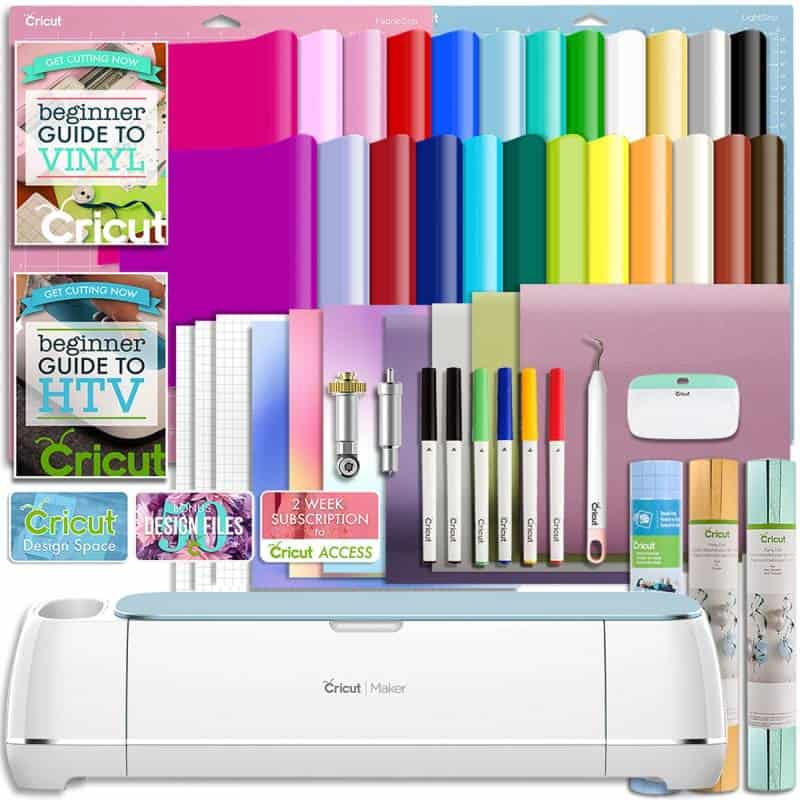 cricut maker deluxe vinyl and HTV bundle from Swing Design