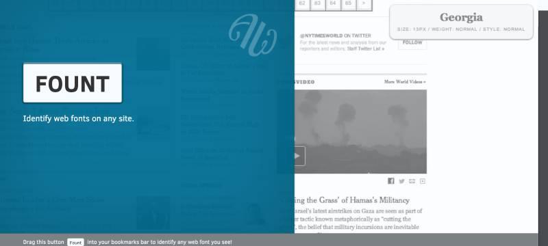 fount font identifier bookmarklet screenshot