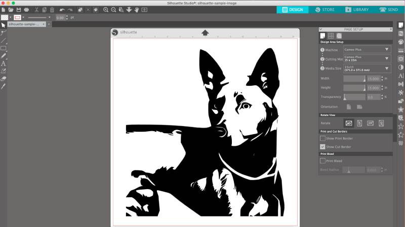 convert a photo to dxf cut file for silhouette studio