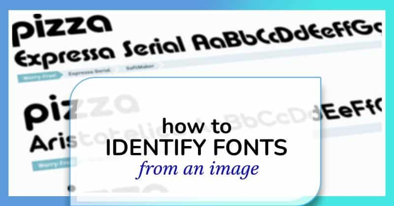 how to identify fonts from images and screenshots